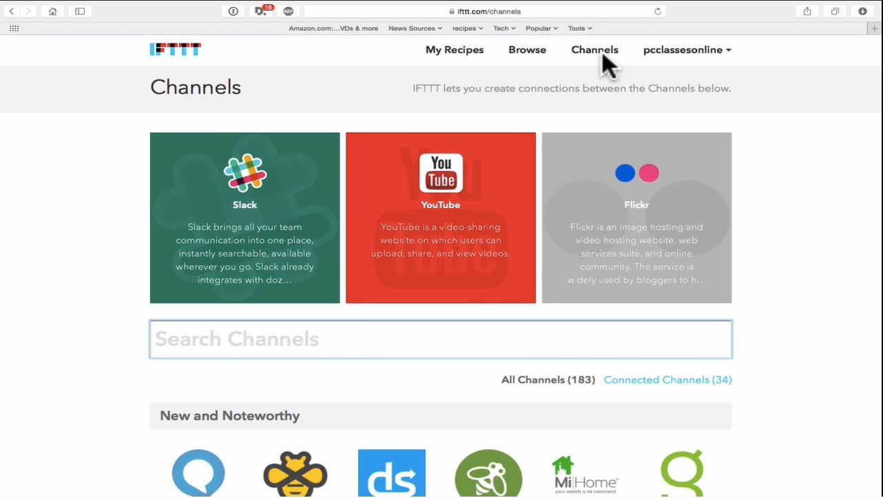 IFTTT channel management