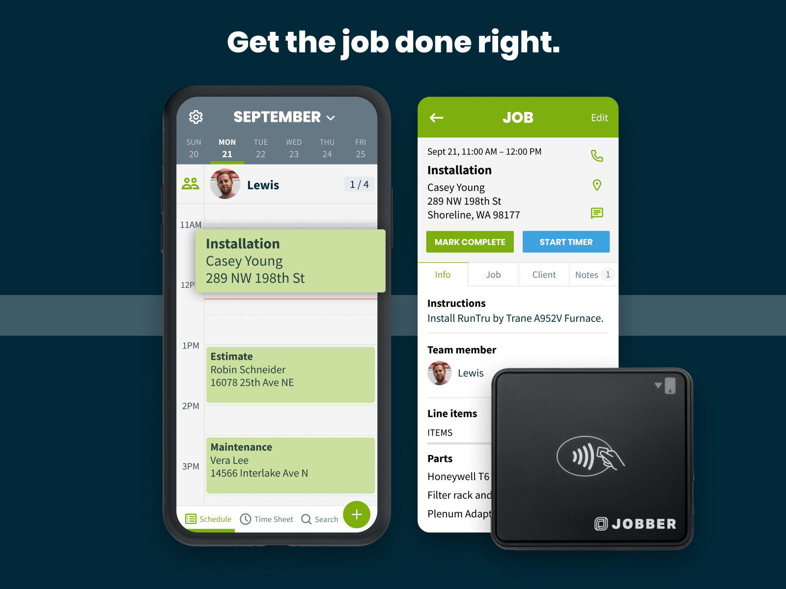 Jobber Software - Complete the job.