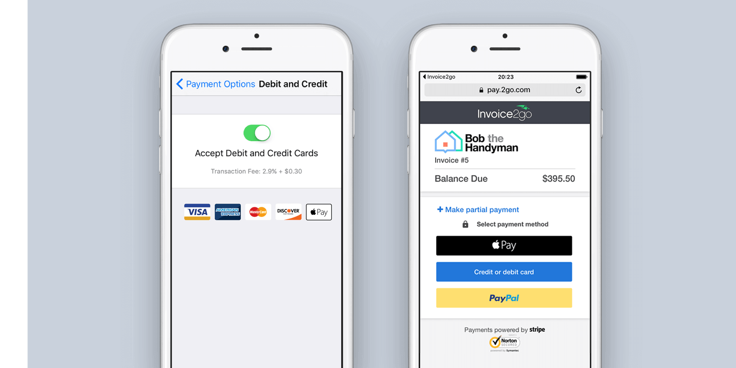 Securely accept debit and credit cards when handling online payments