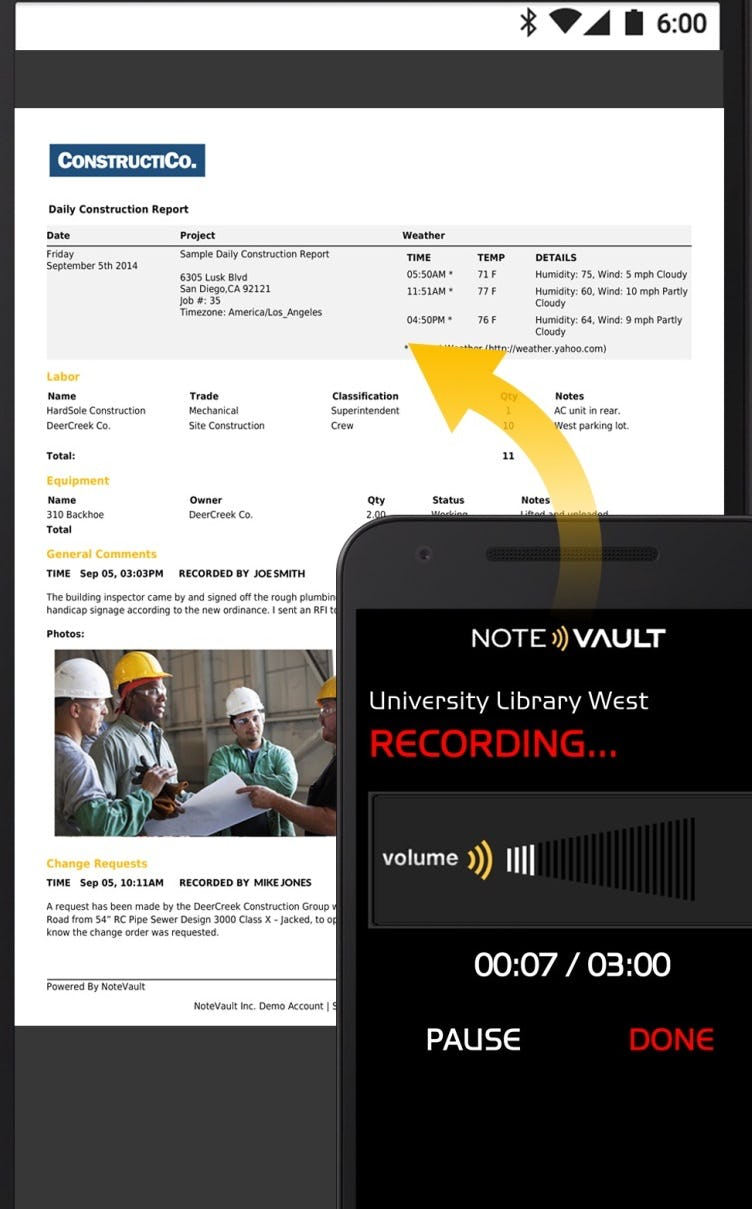 NoteVault Software - Voice to text transcription