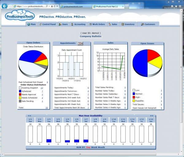 ProBusinessTools Software - Start Page