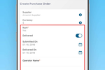 ProcurementExpress.com screenshot: Unique purchase order and line item custom fields to suit your purchasing requirements.
