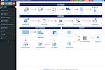 Captura de tela do E2 Shop System: The E2 Shop System dashboard provides users with access to customer management, vendor management, shop control, and quality control features