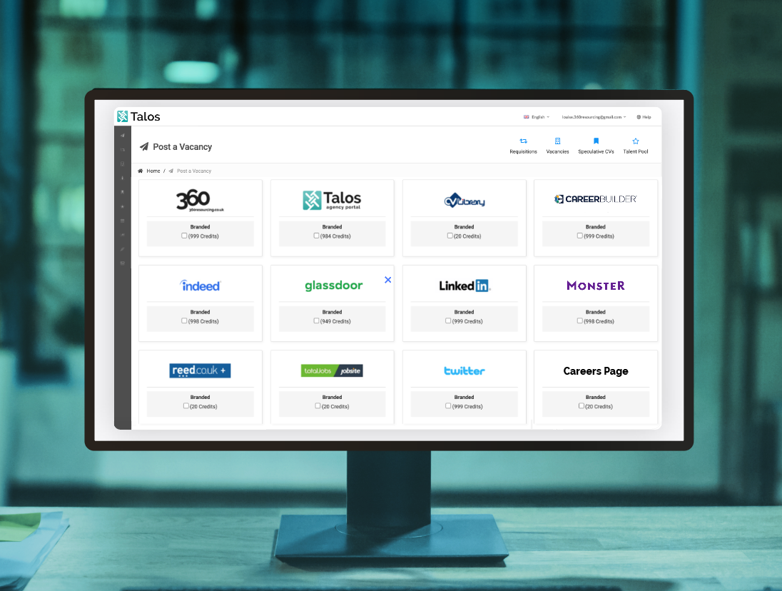 Talos screenshot: Inbuilt Multiposter - Advertise your jobs quickly and easily