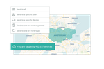 Notificare screenshot: Geo-targeting tracks user location, enabling location based marketing