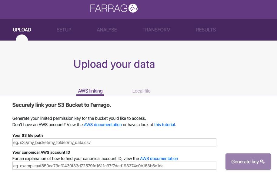 Farrago AWS linking