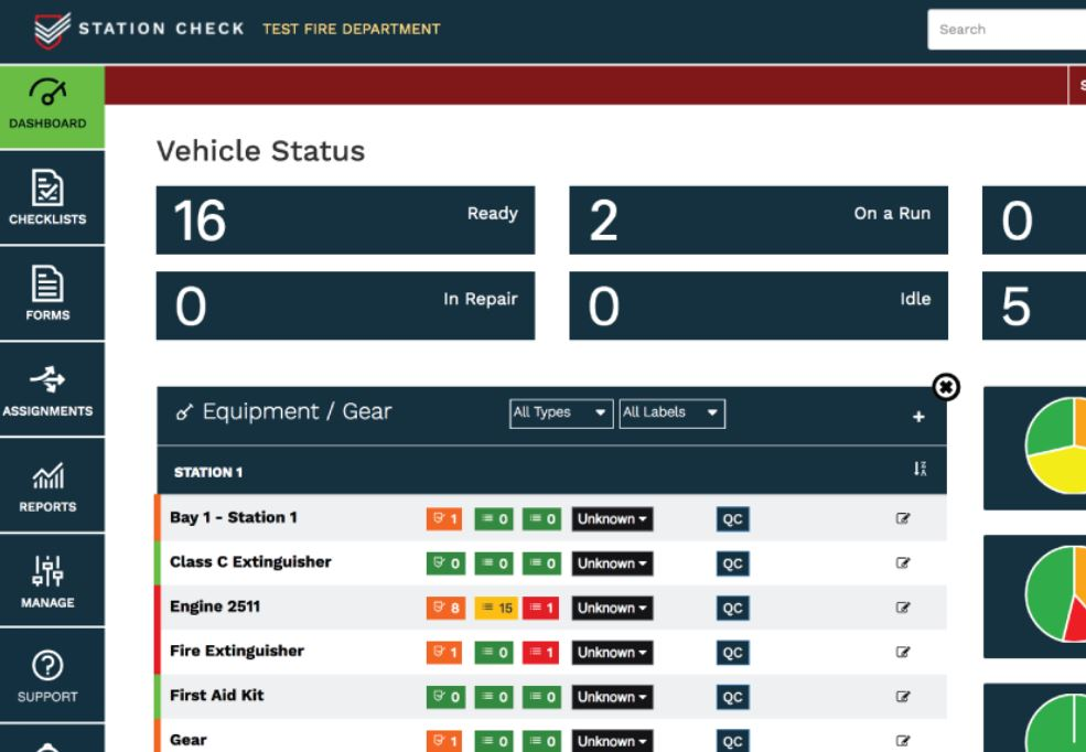 Station Check dashboard