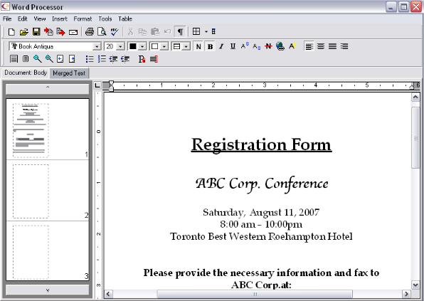 Create registratio forms in EventPro Planner