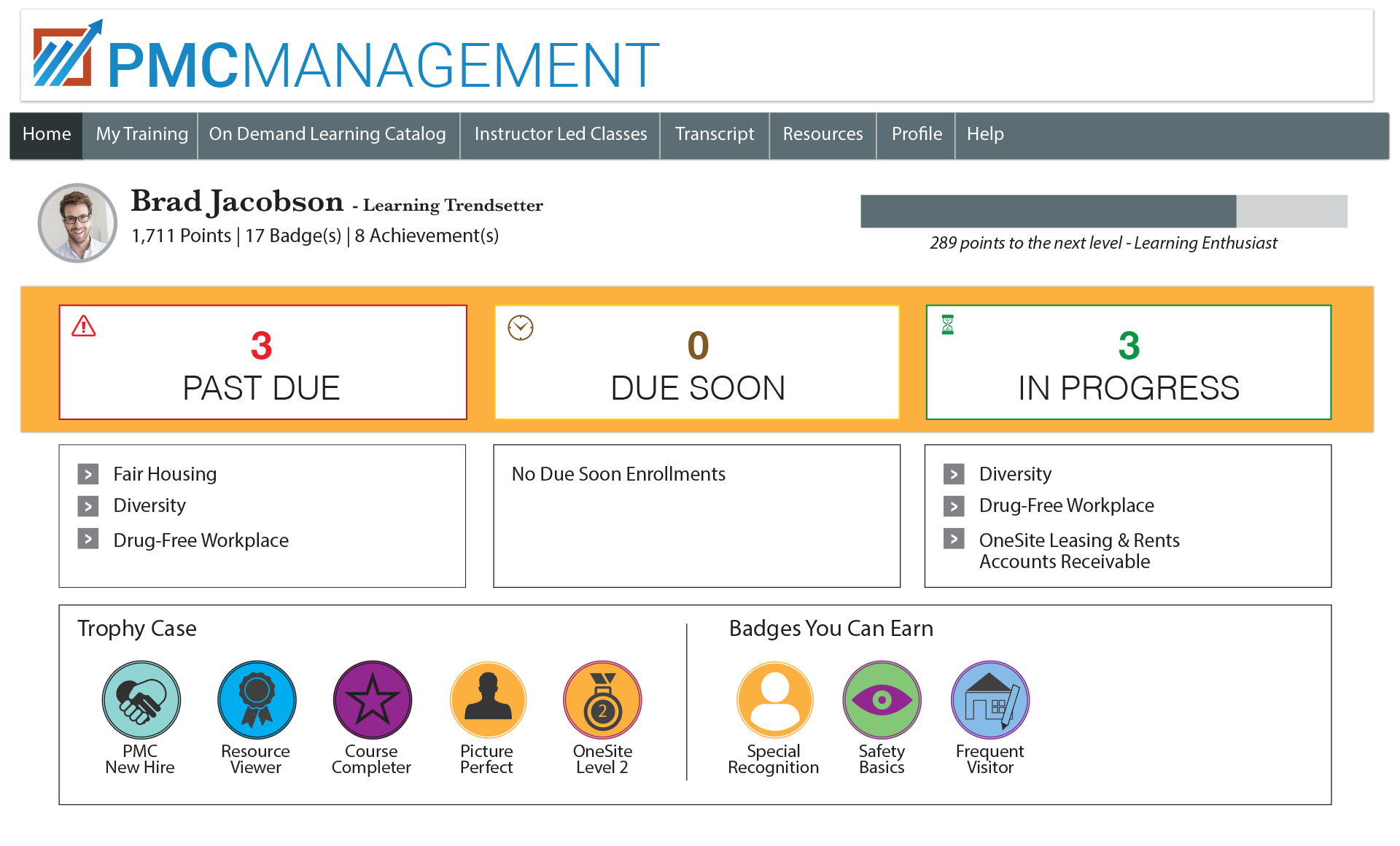 RealPage Software - Training management