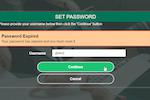 PortalGuard screenshot: PortalGuard Password Expired Prompt