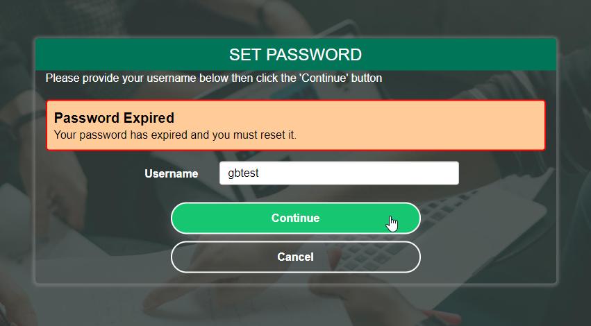 PortalGuard Password Expired Prompt