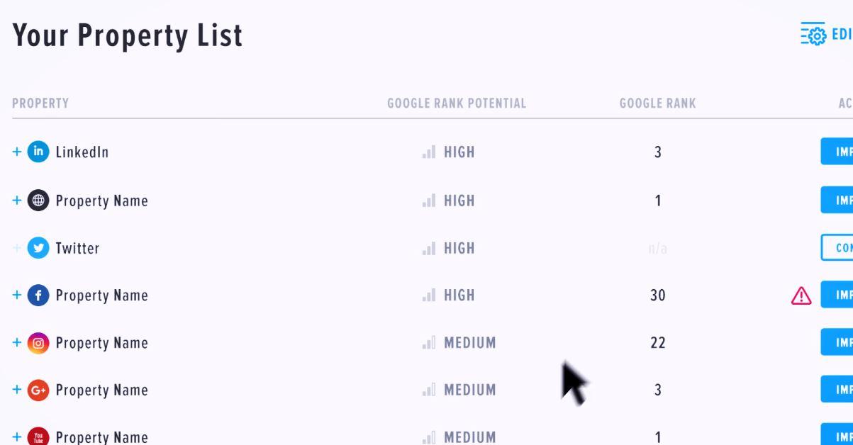 BrandYourself online profiles