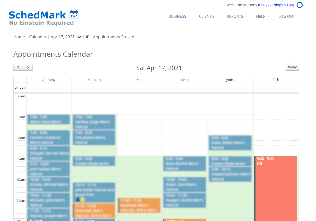 SchedMark Software - Manage daily appointments
