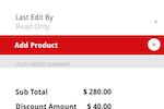 Deskera CRM screenshot: Add Product