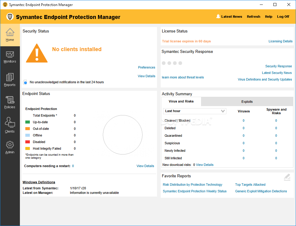 Symantec Endpoint Protection Dashboard