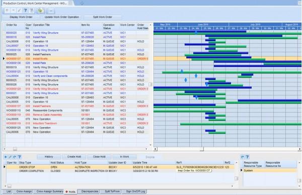 iBASEt Solumina Manufacturing Execution System (MES) production control screenshot