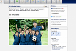 TeamSnap screenshot: TeamSnap includes a customizable homepage for each team, including the option to add sponsors and a team photo