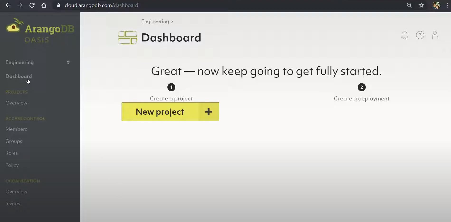 ArangoDB dashboard