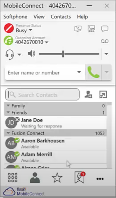 FusionWorks - MobileConnect contacts
