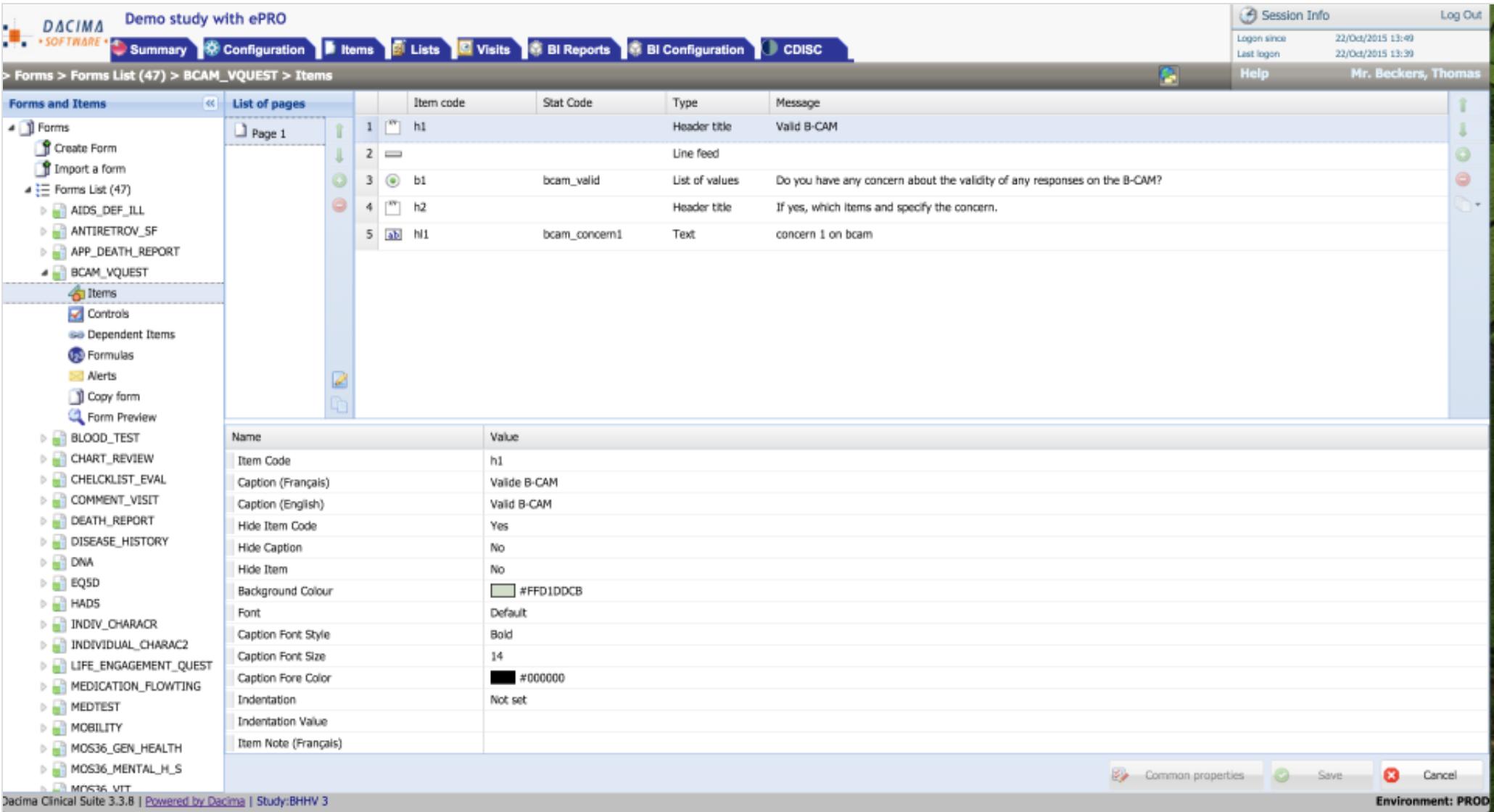Dacima Clinical Suite designer module