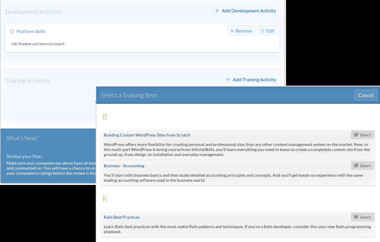 Sprigg Software - Personal Development Plans