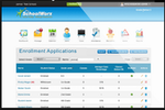 MySchoolWorx screenshot: Manage the enrollment process, and receive, review, approve, or deny applications online