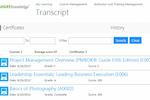 ShareKnowledge screenshot: ShareKnowledge training transcript review screenshot
