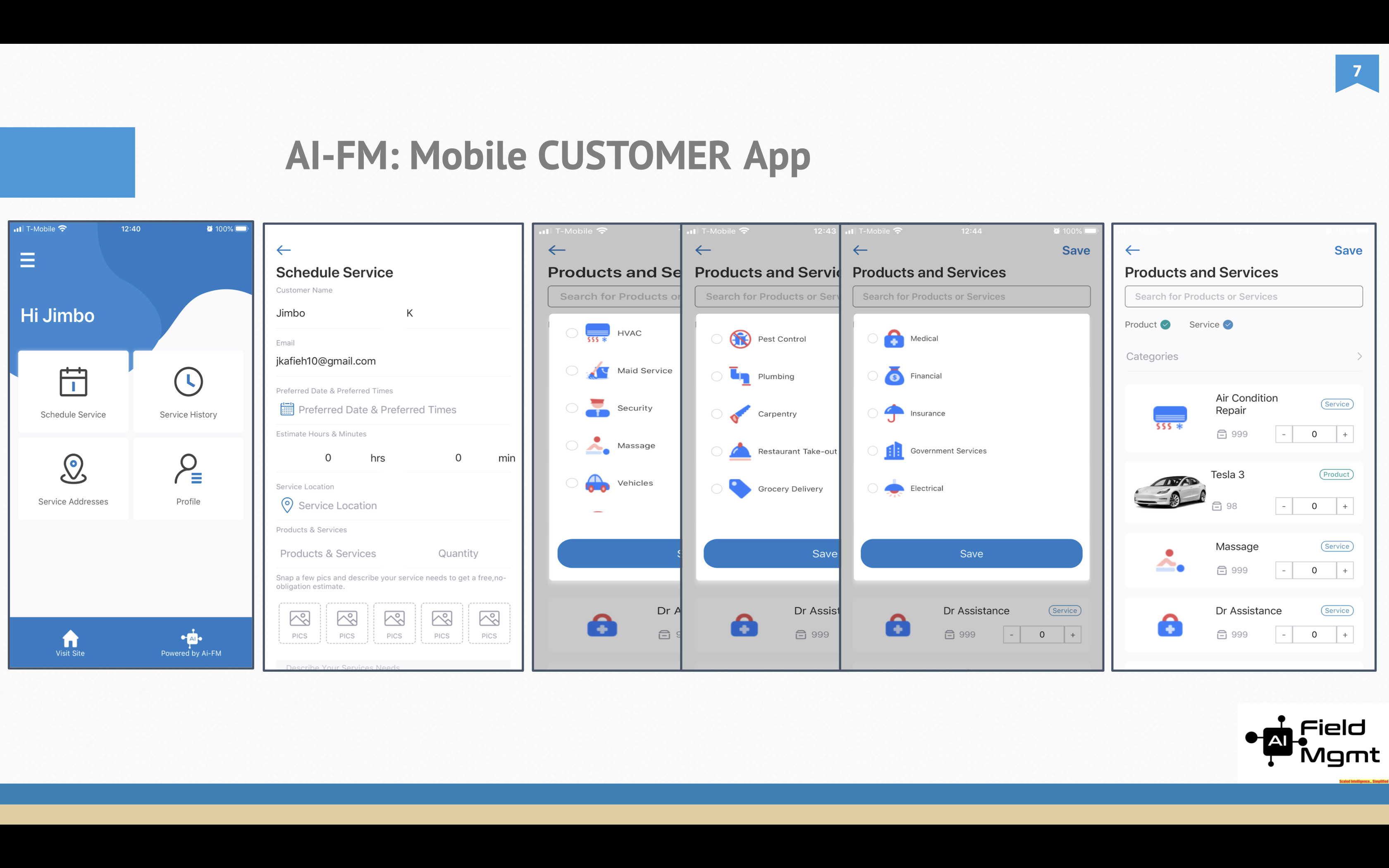 AI Field Mgmt CUSTOMER App (Native iOS/Android)