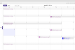 Requuest screenshot: Requuest also allows users to view tickets on the built-in calendar, with day, week, and month views