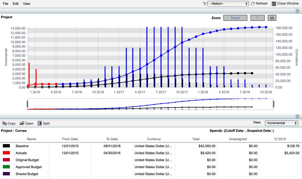 Primavera Unifier cash flow management