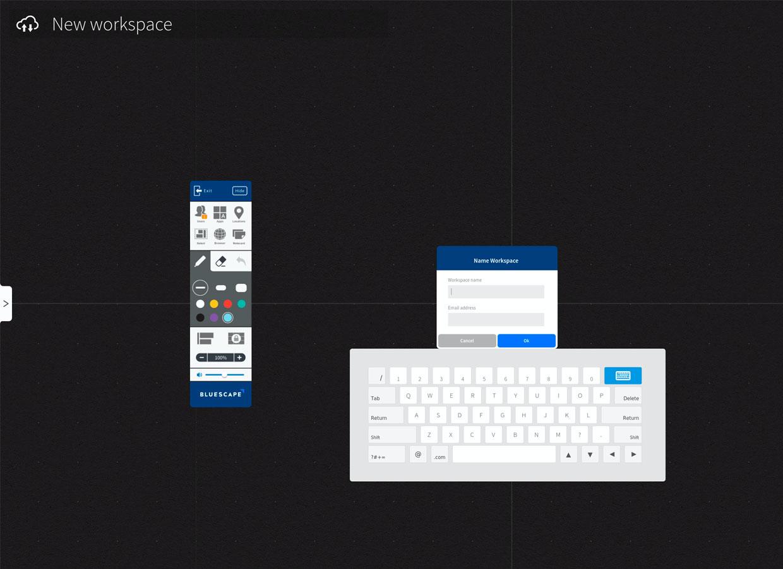 Bluescape new workspace creation