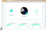 Social Seeder screenshot: Ambassadors have their own space on the platform to view their network, shares and campaign comparisons