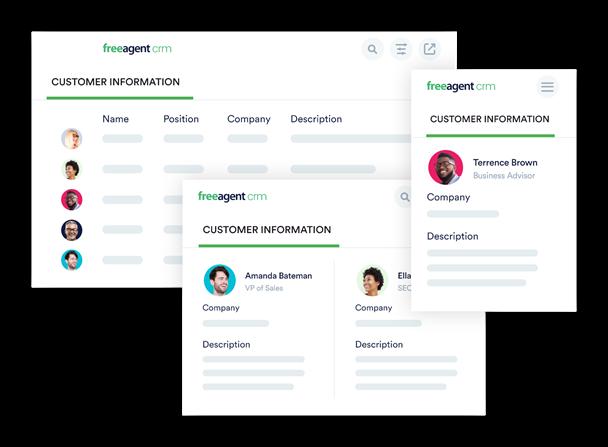 FreeAgent CRM Software - FreeAgent CRM customer information
