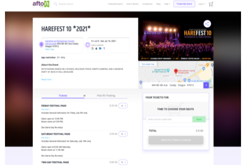 Customized branding on ticket buy page, with flexible features for ticket classes, reserved seating, ticket price tiers, ticket bundles, season passes, live stream tickets, and more!