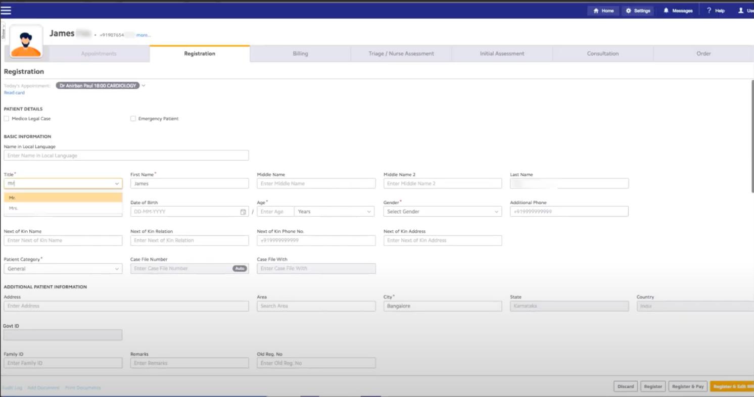Insta Software - Insta patient profiles