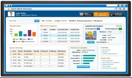 Ramco Logistics Software work planning screenshot