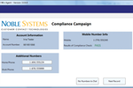 Noble Suite screenshot: The Noble Compliance Appliance provides a patented solution for managing TCPA wireless dialing regulations, while also checking for a range of compliance requirements, in real-time