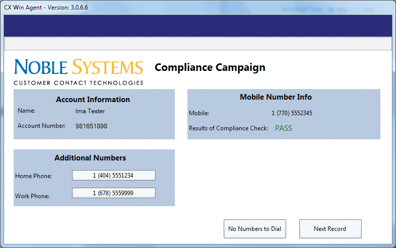 The Noble Compliance Appliance provides a patented solution for managing TCPA wireless dialing regulations, while also checking for a range of compliance requirements, in real-time