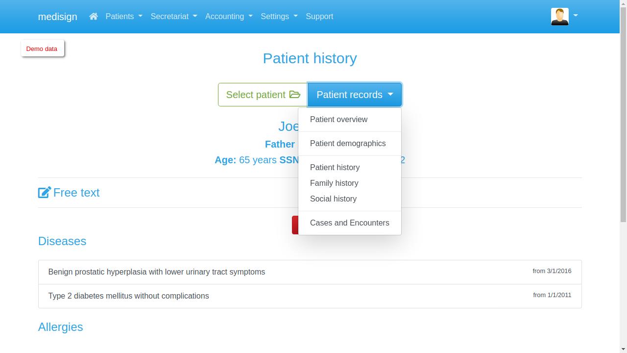 MediSign - Patient History