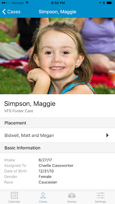 Child profiles can be accessed on any device including through the mobile apps