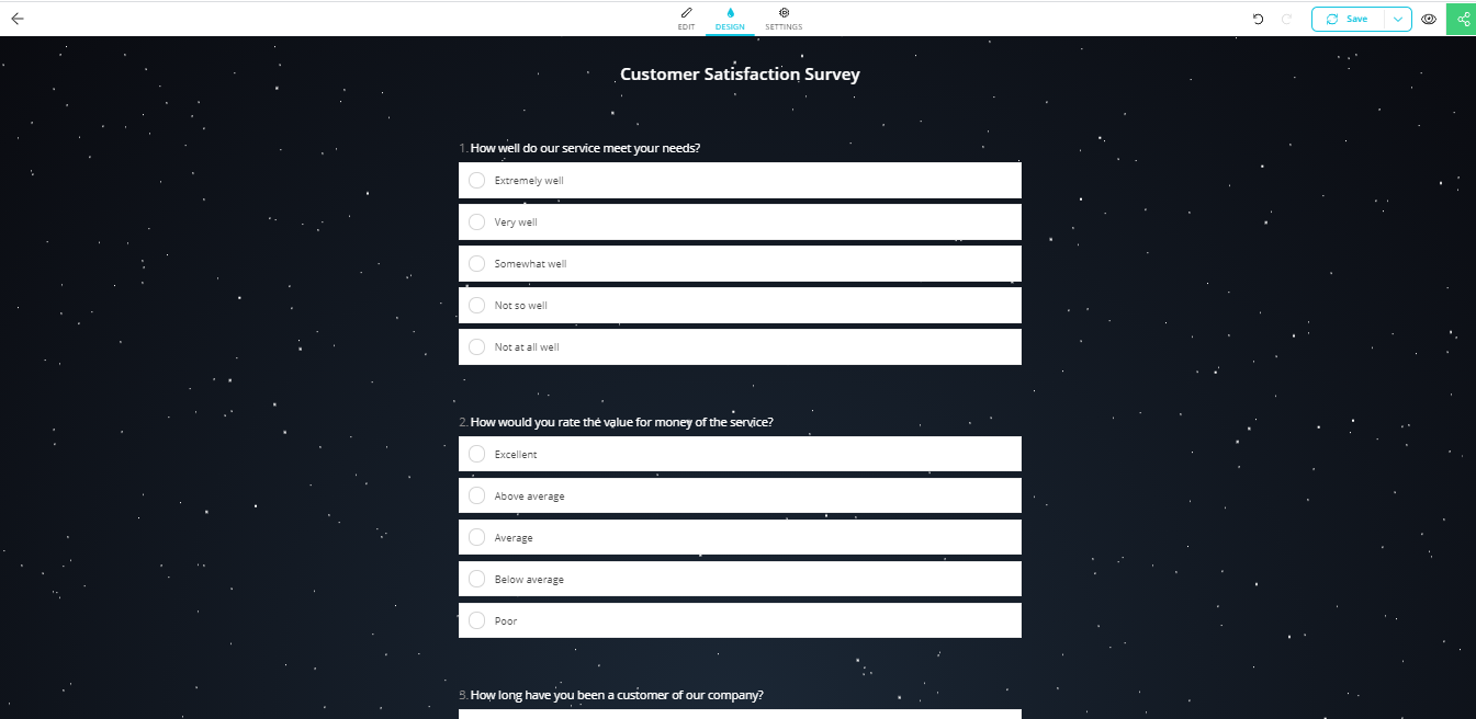 forms.app survey Example