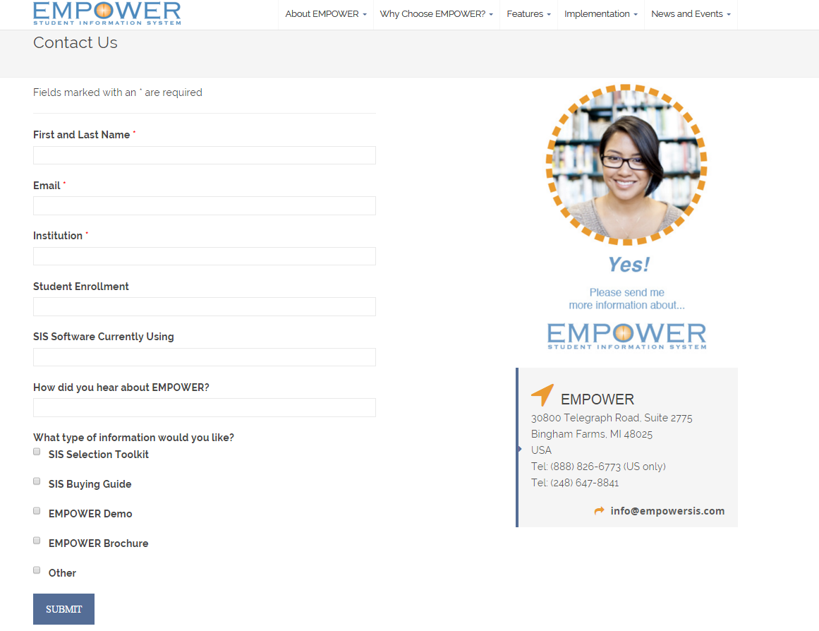 EMPOWER - Contact Page