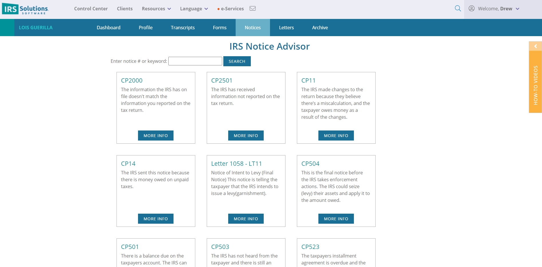 IRS Notice Advisor. Select notice and respond in minutes.