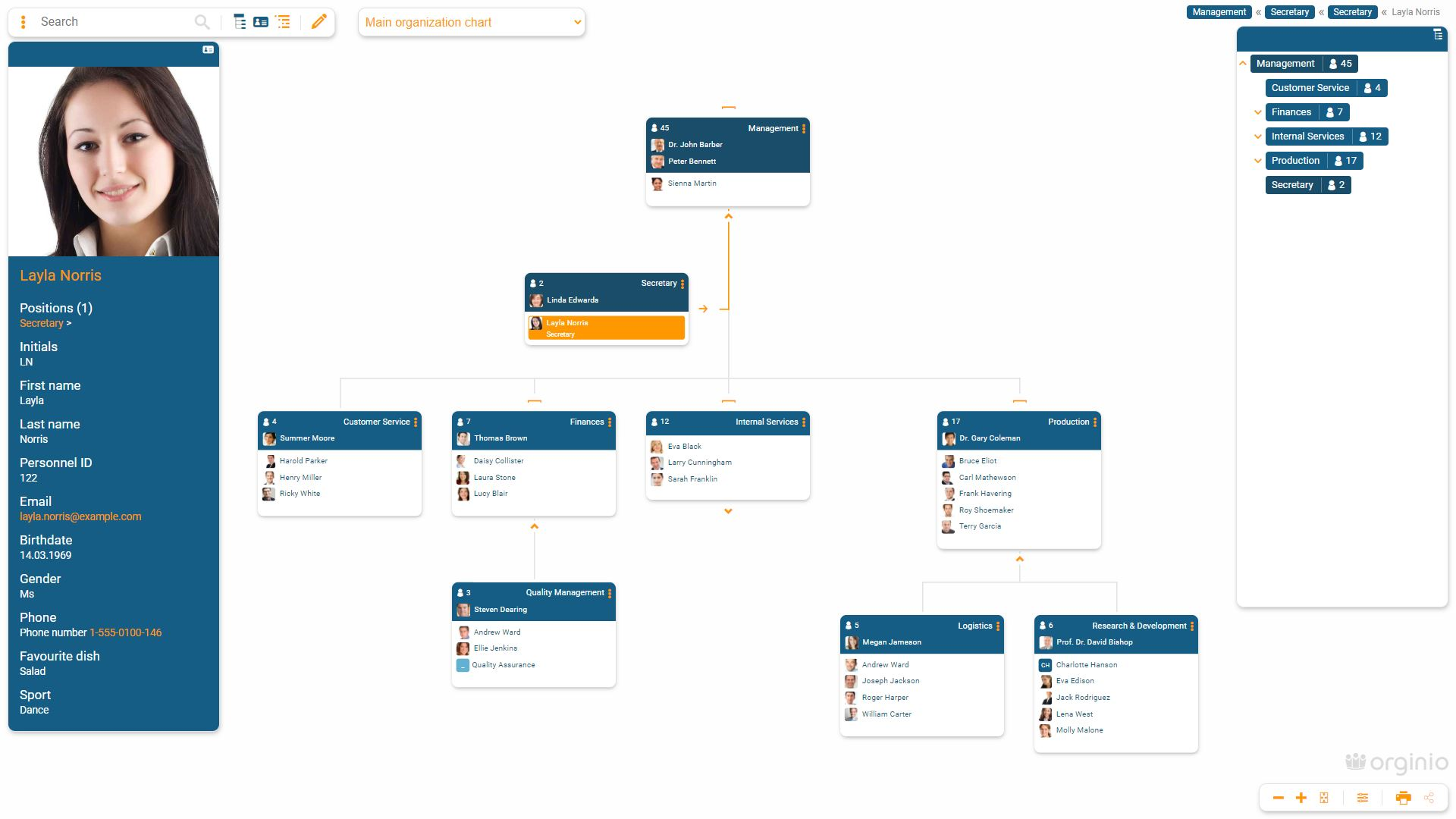 Create your online org chart within minutes with orginio.