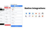 Marker screenshot: Native integrations with 9+ issue tracking tools.