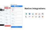 Captura de pantalla de Marker: Native integrations with 9+ issue tracking tools.