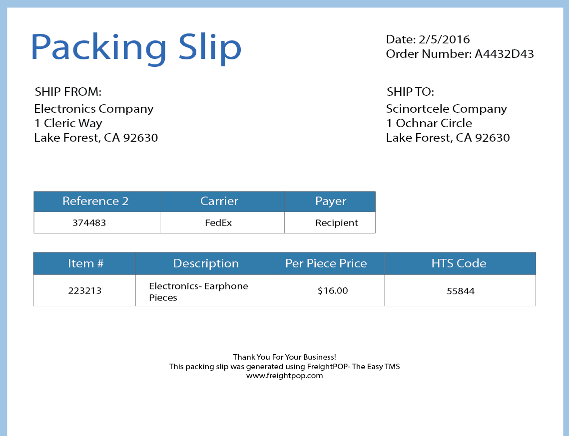 Printing capabilities allow for the creation of shipping labels, packing slips and associated documents