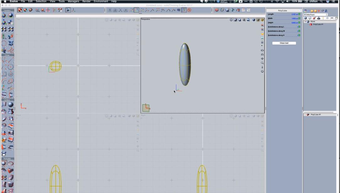 solidThinking Evolve symmetry measurement screenshot