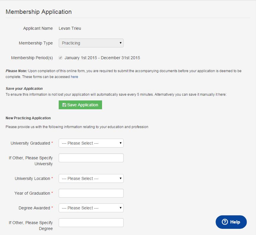 Dash Software - Membership application