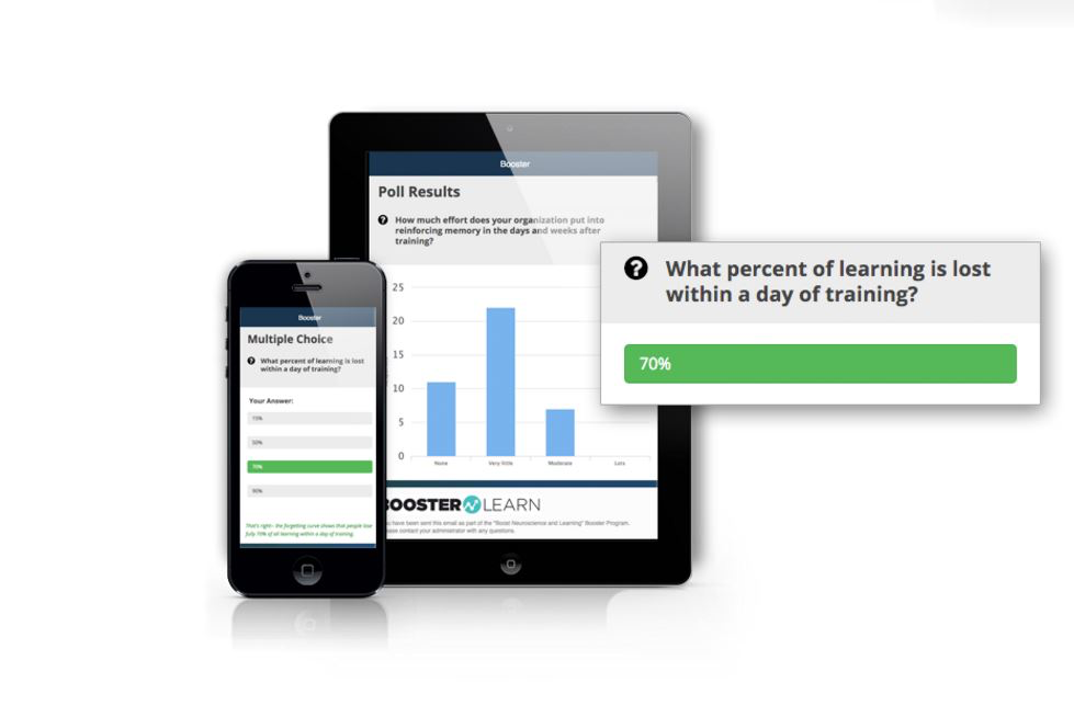 The solution allows users to create booster programs to increase learning retention.